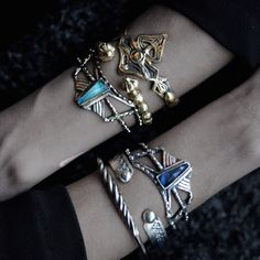 New #cuffs in sterling #silver and bronze on the shop! #jewelry #jewellery#armparty# armcandy #jewels#silverjewelry #handmadejewelry #crystals #crystaljewelry #medievaljewelry #gameofthrones #gameofthronesjewelry #labradorite #labradoritejewelry#goldjewelry#bracelets#bohojewelry#jewelrydesign