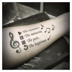 100 Music Tattoo Designs For Music Lovers ❤ liked on Polyvore featuring accessories, body art and tattoos