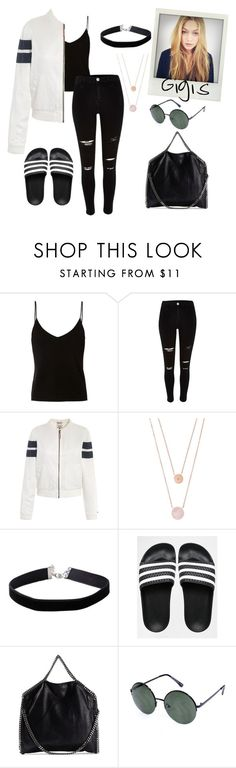 """Gigi Hadid's style"" by nantise on Polyvore featuring T By Alexander Wang, River Island, Tommy Hilfiger, Michael Kors, Miss Selfridge, adidas and STELLA McCARTNEY"