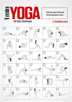 Yoga Challenge by DAREBEE Amazing Website, would be great to compile a workout folder to pull from & write on the board in the gym 30 Tage Yoga Challenge, 30 Day Workout Challenge, 30 Day Back Challenge, 30 Day Challange, Stretch Challenge, Plank Challenge, Yoga Routine, Full Body Stretching Routine, Fitness Herausforderungen