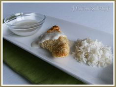 Baked Coconut Chicken with Coconut Lime Dipping Sauce (without the breadcrumbs it wood be gluten free and low carb!)