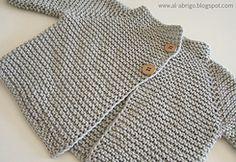 Ravelry: zen cardigan pattern by al-abrigo (sport weight) Cardigan Bebe, Cardigan Pattern, Baby Cardigan, Coat Patterns, Baby Patterns, Knitting Patterns, Baby Hats Knitting, Knitting For Kids, Brei Baby