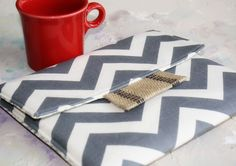 cute. Monogrammed 15 MacBook Air/Pro Case, laptop cover, macbook sleeve, gadget cases and covers in Grey Chevron. $44.75, via Etsy.