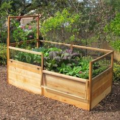 hmmm....I might just have to build this for my garden beds.  Seems like the best way to protect from animals but access the beds.