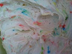 Dunkaroo dip. 1 package of confetti cake mix 2 cups of plain yogurt 1 container of cool whip  Serve with graham crackers.