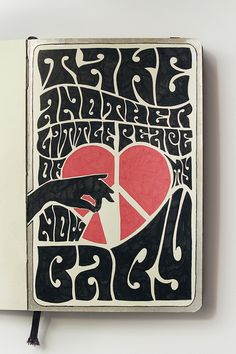 Moleskine illustration #38: Take another little peace of my heart. by Major Lazor, via Flickr