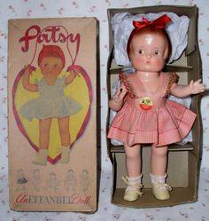 1940s  Effanbee PATSY Doll -- ALL ORIGINAL in Display Box