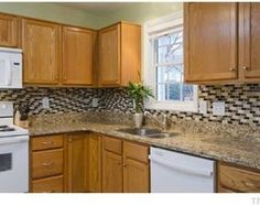 What Color To Paint Kitchen Cabinets With Bisque Appliances Kitchens With Kitchen Cabinet