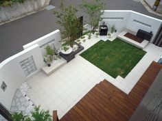 お庭、リゾート風ガーデンスタイル