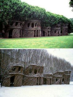 Wow, simply gorgeous, stick sculpture houses...