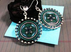 Green Window Earrings by JoelleLove on Etsy