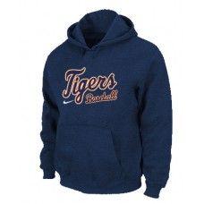 Wholesale Men Fashion Winter Detroit Tigers Dark Blue Baseball Pullover Hoodie_Detroit Tigers Pullover Hoodie