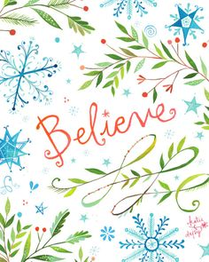 Believe Art Print - Katie Daisy : Painter and Wildflower