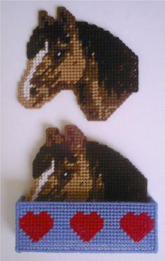 Bay Horse Coaster Set- Plastic Canvas Pattern