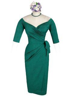 Whirling Turban wiggle dress