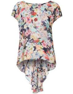 Floral Print Fishtail Blouse.  We loved the fishtail detailing at the back of this pretty blouse and all for only AU$53
