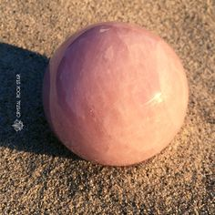 Rose Quartz sphere for love and healing. www.crystalrockstar.etsy.com #crystalhealing
