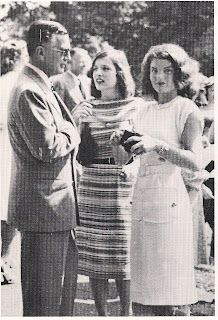 """Jackie and Lee Bouvier, With Their Father, The Scandalous & Infamous """"Blackjack"""" Bouvier....Oh, Jackie Was Definately A """"Daddy's Girl"""" Who Had Many Conflictes With Her Mother & Stepfather, Hugh Auchinchloss...Divorce Hurts..."""