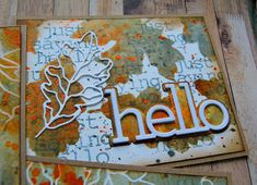 Kath's Blog......diary of the everyday life of a crafter: Simon Says - STAMPtember Blog Party Hello Photo, Simon Says Stamp Blog, Birthday Sentiments, Miss You Cards, Visual Texture, Get The Party Started, Artist Trading Cards, Old Paper, Mixed Media Canvas