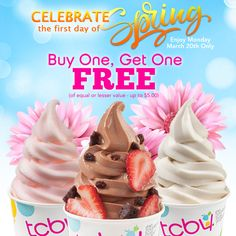 72 best tasty tcby treats images on pinterest summer summer spring your way to a tcby today buy one get one publicscrutiny Choice Image