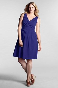 I love these Lands End dresses. I have several, both solid and patterned! So flattering and comfortable.