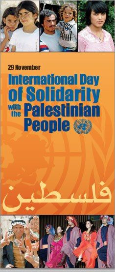On 29 November the #UN observes the International Day of Solidarity with the #Palestinian People. Learn more here: http://j.mp/dYXwDU. You can also watch special events scheduled in #NYC all day on Thursday here: http://j.mp/KQ78Zz