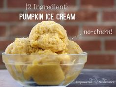 Two ingredient, no-churn pumpkin ice cream (dairy and refined sugar free!) #autoimmunepaleo #autoimmuneprotocol