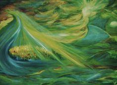 SINTFLUT Öl auf Leinwand, 80 x 60 cm von Runa Argeya