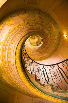 Another spectacular staircase is this highly decorated spiral in the Monastery of Melk in Melk, Austria just west of Vienna. Unfortunately, since I shot Jim Zuckerman Photography Arabesque, Tiny Steps, Natural Calm, European Home Decor, Melk Austria, Stairway To Heaven, Staircase Design, Beautiful Buildings, Sacred Geometry