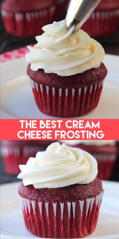 The BEST Cream Cheese Frosting Recipe – thick, sturdy, and pipeable, plus not overly sweet! Easy to make and perfect for piping onto cupcakes and other cake decorating. Cake The BEST Cream Cheese Frosting Köstliche Desserts, Delicious Desserts, Beste Desserts, Food Deserts, Cheesecake Recipes, Cookie Recipes, Cheesecake Cookies, Baking Recipes Cupcakes, Cheesecake Frosting