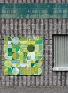 modern circles quilt