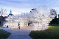 installation shaped cloud electric Sou Fujimoto