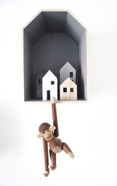 kidsroom, scandinavian, scandistyle, kaj bojesen, wooden housebox, blue tones, interior