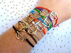 Anchor hemp bracelets