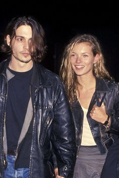 They step out together for the first time in 1994—simultaneously making a style statement in matching leather, no less.   - ELLE.com