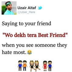 Lol Aisa to Roz Hota hai😂 School Life Quotes, My Life Quotes, Bff Quotes, Jokes Quotes, Friendship Quotes, Funny Quotes, Funny True Facts, Crazy Funny Memes, Best Friends Funny