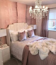 Nice 20 Cute Chandeliers Decoration Ideas For Your Bedroom. Nice 20 Cute Chandeliers Decoration Ideas For Your Bedroom. Glam Bedroom, Cozy Bedroom, Home Decor Bedroom, Diy Home Decor, Bedroom Ideas, Master Bedroom, Master Suite, Bedroom Romantic, Queen Bedroom
