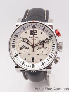 Hanhart Primus Pilot Mens Chronograph Automatic Wrist Watch w Box Papers #Hanhart