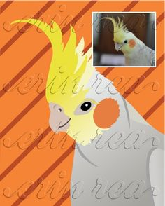 Custom Pet Portrait : Modern Print of YOUR Pet (www.ErinReaDesign.com)