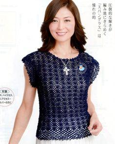 Crochet Wonders: blouses of Verão_Modelo Japanese