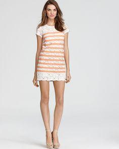 BCBGMAXAZRIA Lace Dress - Striped Tee   Bloomingdale's. love