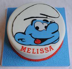 Smurf Birthday Cake | Flickr - Photo Sharing!