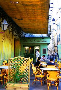 "drank coffee at The Night Cafe- the cafe Van Gogh painted in ""Cafe De La Nuit"" in Arles, France"