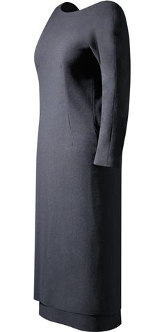 1955, France - Cocktail dress by Balenciaga - Black wool crepe