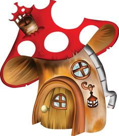 "Photo from album ""Domčeky"" on Yandex. Mushroom House, Mushroom Art, Cartoon Drawings, Cool Drawings, Farm Quilt, Cartoon Monsters, Arts And Crafts, Paper Crafts, Cute House"