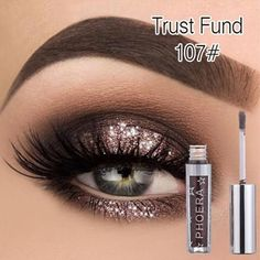 Buy PHOERA Metallic Diamond Pearly Watery Eyeshadow Sparkling Party Radiant Fashion Liquid Eyeshadow colors) at Wish - Shopping Made Fun Eyeshadow Tips, Liquid Eyeshadow, Eyeshadow Looks, Eyeshadow Makeup, Makeup Cosmetics, Matte Eyeshadow, Eyebrow Makeup, Waterproof Eyeshadow, Green Eyeshadow