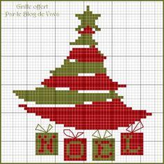 Dans un mois, nous y serons, alors c'est le moment ou jamais Voici une nouvelle grille de Noël A télécharger ici pour une meilleure lisibilité Pour mémoire, d'autres grilles à retrouver dans mes archives de Novembre 2011 et Décembre 2011 A farfouiller...