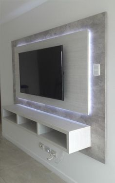 64 BEST TV WALL DESIGNS AND IDEAS - Page 46 of 64 The TV background wall mainly refers to the main wall in the living room and bedroom that reflects the decoration style. The position of the… Tv Wand Design, Tv Shelf Design, Tv Cabinet Design Modern, Tv Cabinet Wall Design, Modern Design, Tv Wall Cabinets, Wall Mount Tv Cabinet, Tv Wall Mount, Tv Cabinet Ikea