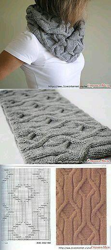 snood avec torsades ; voir ici : http://www.blog-du-fil.com/tricot-grilles-gratuites-suite-et-fin-a120286726