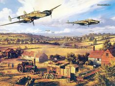 Aviation Art : Air Combat Paintings Collection (Vol.03) - One-Tens Over Kent - Aviation Art by Nicolas Trudgian 24